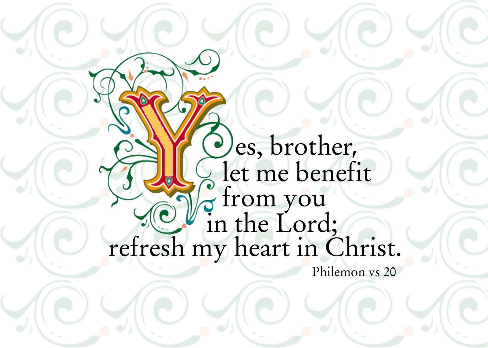 Philemon vs 20 philemon book of titus mom prayers