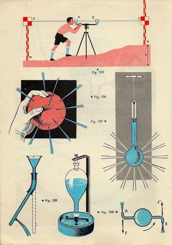 Vintage Science Lab Illustration Chemistry 12X16 Inch Framed Art Print