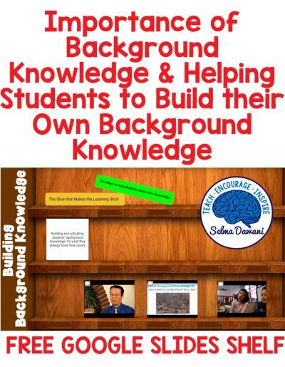 Helping students build background knowledge will help them retain information #googleslides