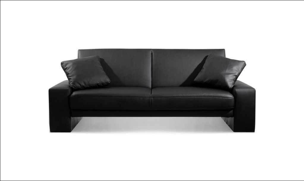 Cool Black Leather Sofa