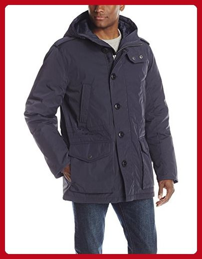 a63e23b5bb Tommy Hilfiger Men s Poly Twill Full Length Hooded Parka