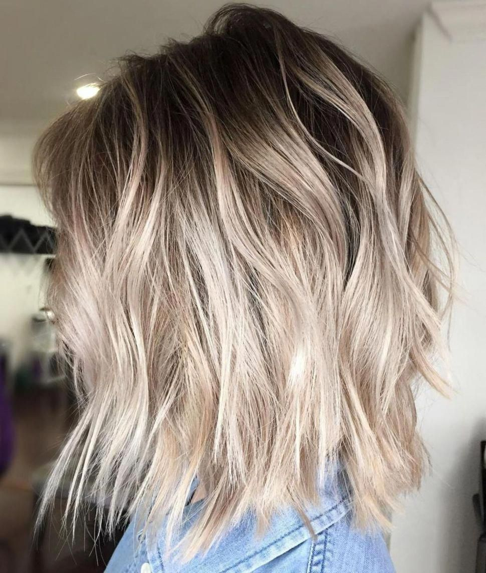 Ash Blonde Balayage Bob With Root Fade Shorthairbalayage In