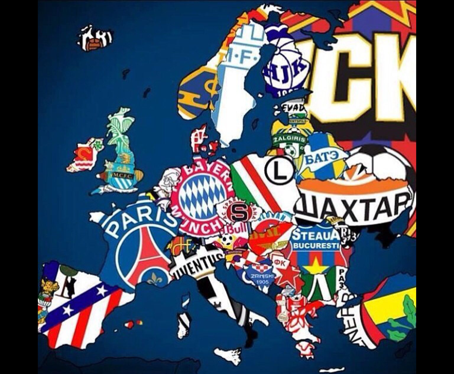 The champions of there country !! League, World football