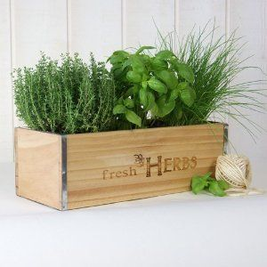 Wooden Herb Boxes Farm Shop Cafe Herbs Fresh Herbs Window Boxes