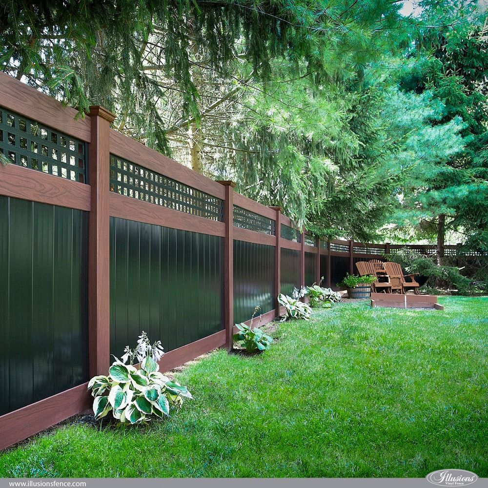42 Vinyl Fence Home Decor Ideas for Your Yard   Illusions ...