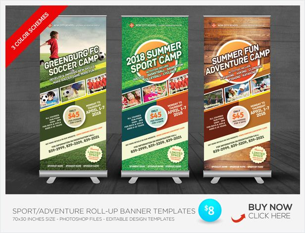 Sport Or Adventure Camp Flyers  Flyer Template Template And Camping