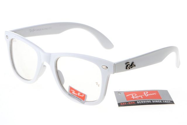 Ray Ban Wayfarer RB2140 White Frame Transparent Lens  14.87   Ray ... 342fb74b92cc