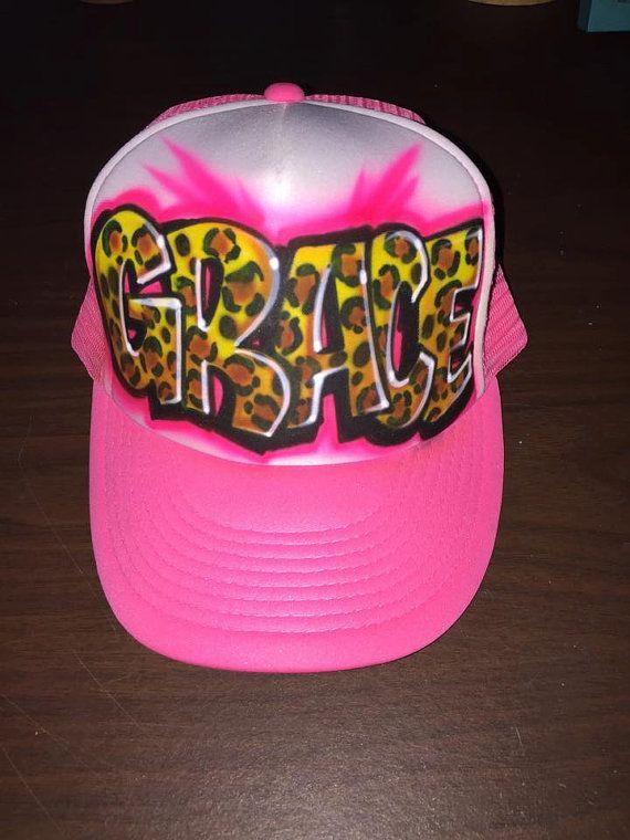 2f000b2650e Airbrushed Name design trucker hat