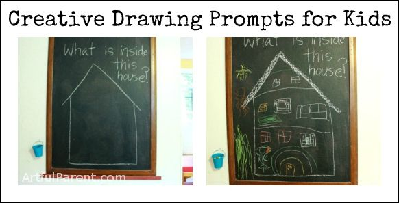 Drawing prompts and games for kids to get them drawing and thinking more creatively