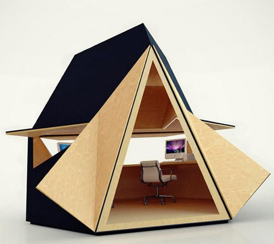 Tetra-Shed is a modular, 8sqm, office system that you can install in your garden. There are also larger modules to form small living quarters.