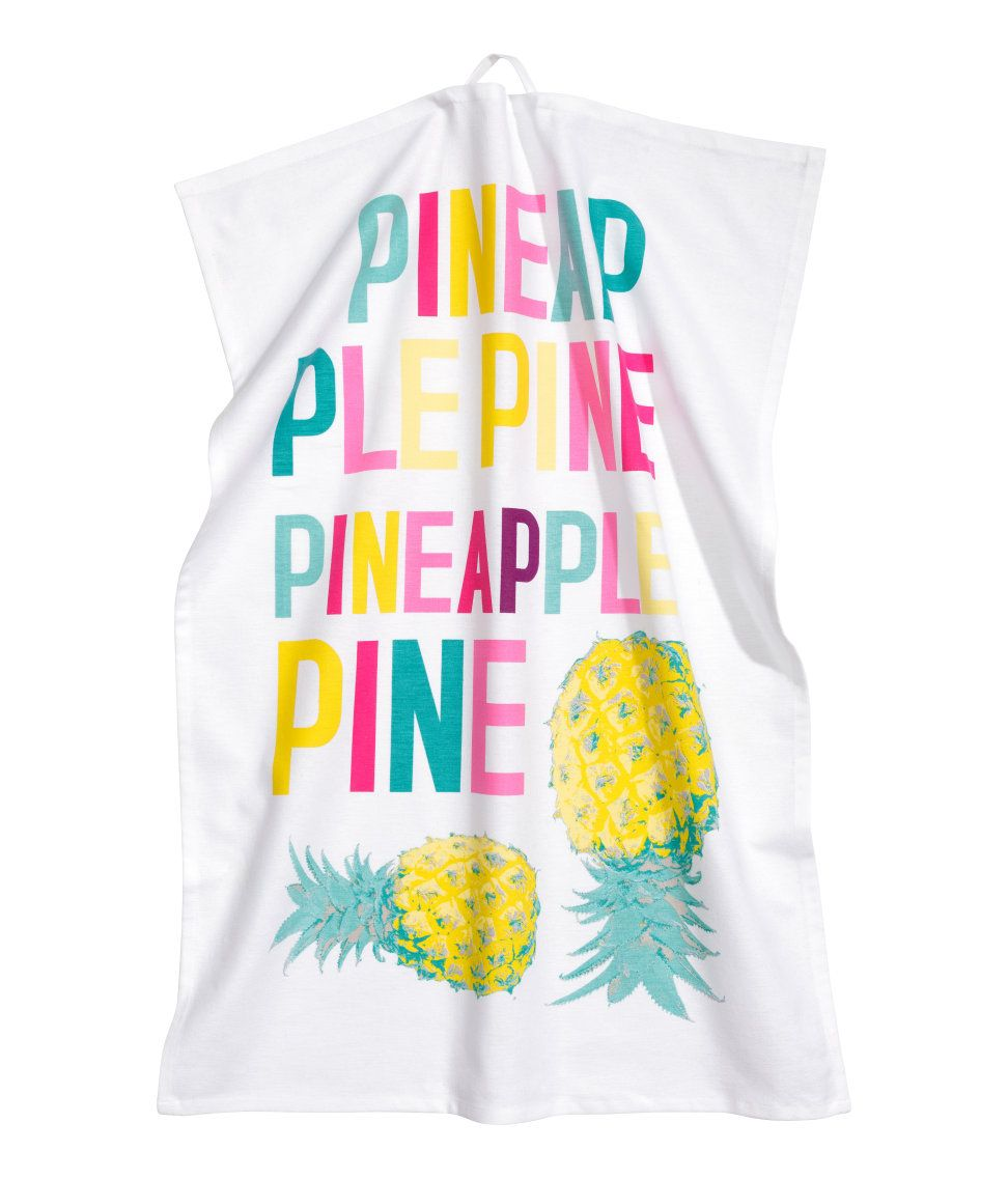 Super colorful pineapple themed tea towel. It's a bit silly but I like it! (H&M Home)