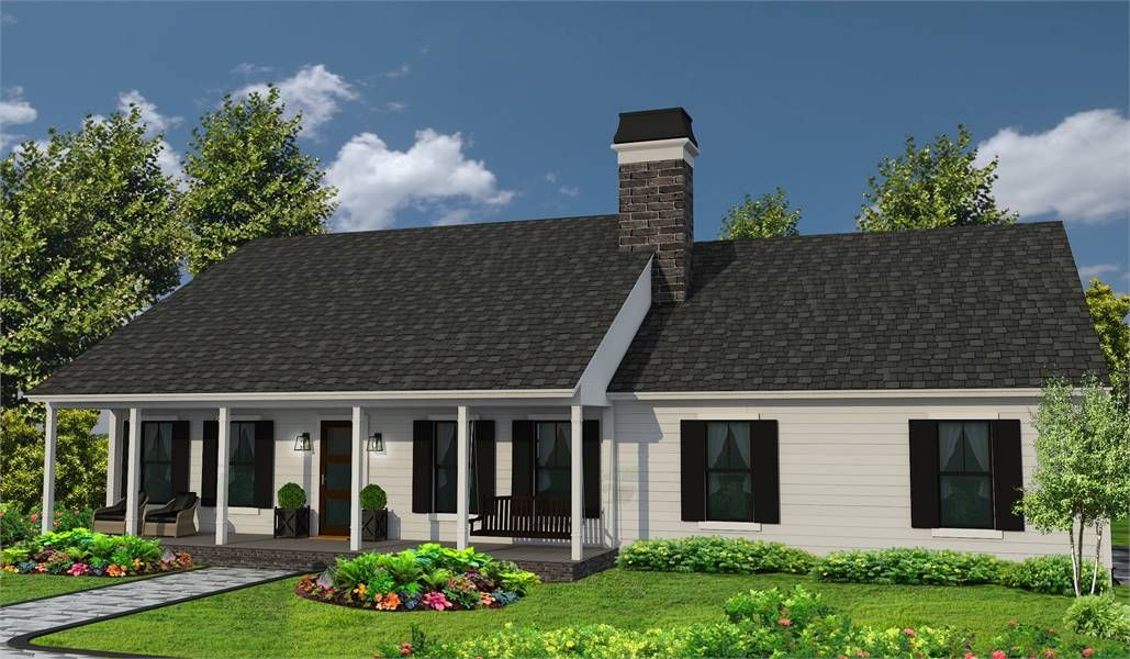 One Story Ranch Style House Plan 4309 Southern Trace Ranch Style Homes Ranch Style House Plans Beautiful House Plans