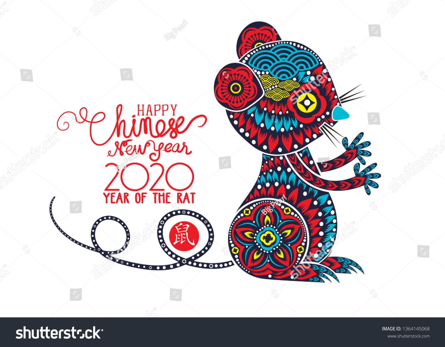 Ghim trên Chinese New Year 2020. Year of the RAT