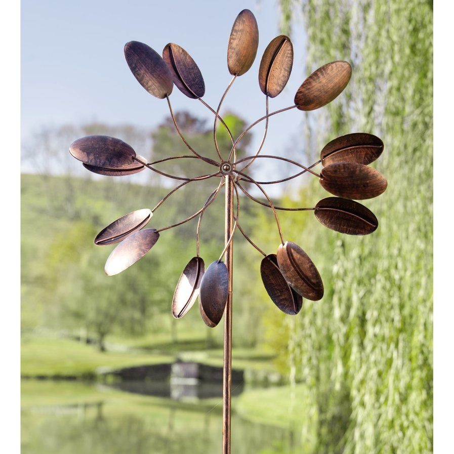 Our Kinetic Art Wind Spinner Has Two Sets Of Rotors Thatu0027ll Twirl In The  Breeze. This Garden Wind Spinner Stakeu0027s Antique Bronze Finish Complements  Any ...