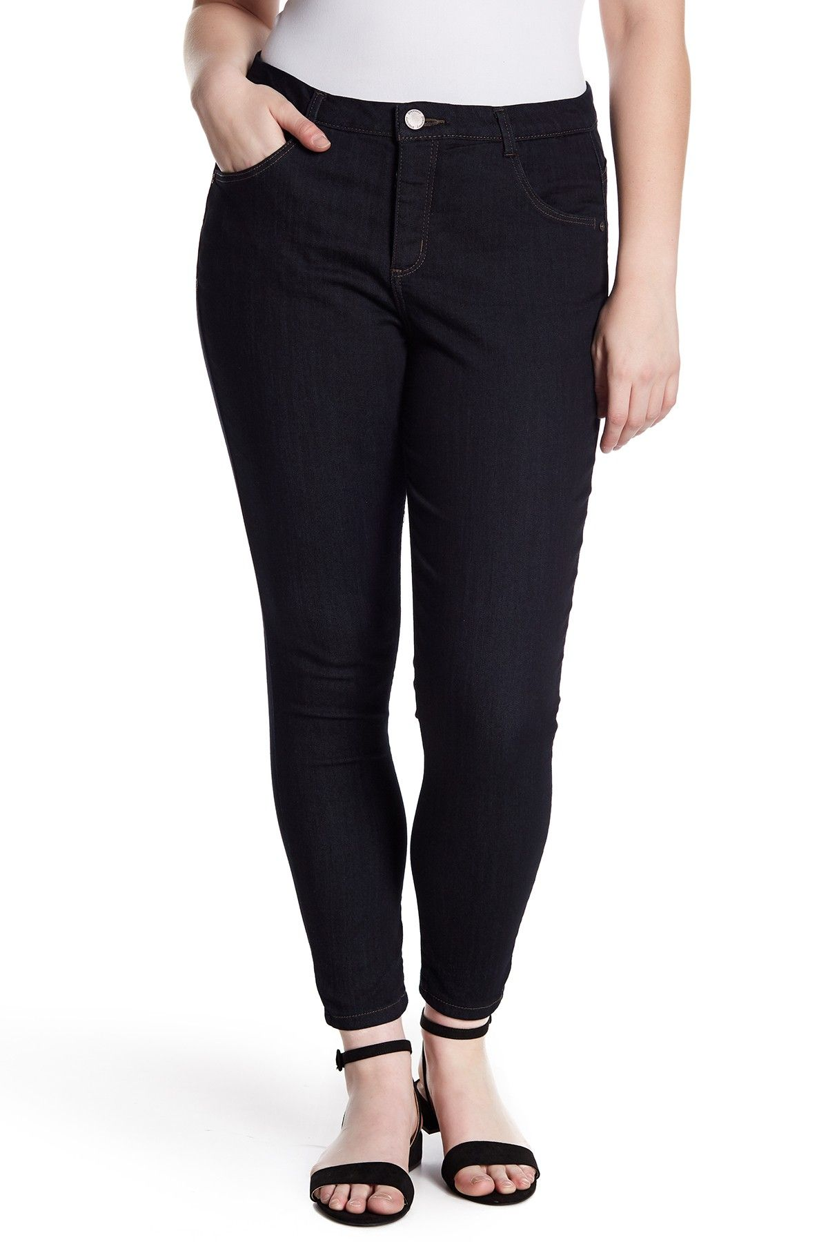 4f6b75c780d High Rise Ab Tech Ankle Skinny Jeans (Plus Size) by Democracy on   nordstrom rack