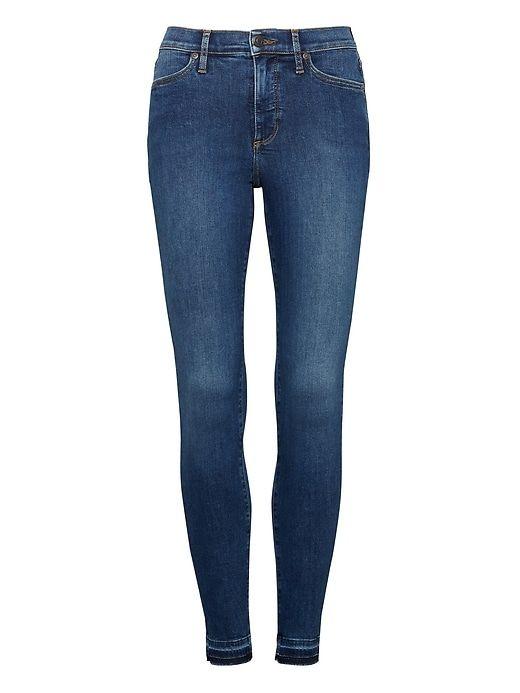 404c5fc361401 Banana Republic Womens Devon Legging-Fit Luxe Sculpt Medium Wash Jean With Fray  Hem Indigo