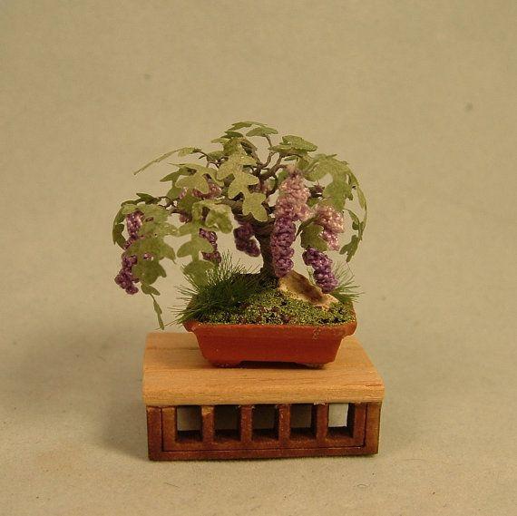 Dollhouse Miniature Bonsai - Wisteria