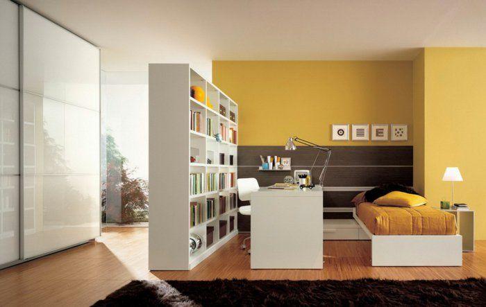 62 gelungene Beispiele, die für einen Raumtrenner sprechen Pinterest - deko wohnzimmer regal