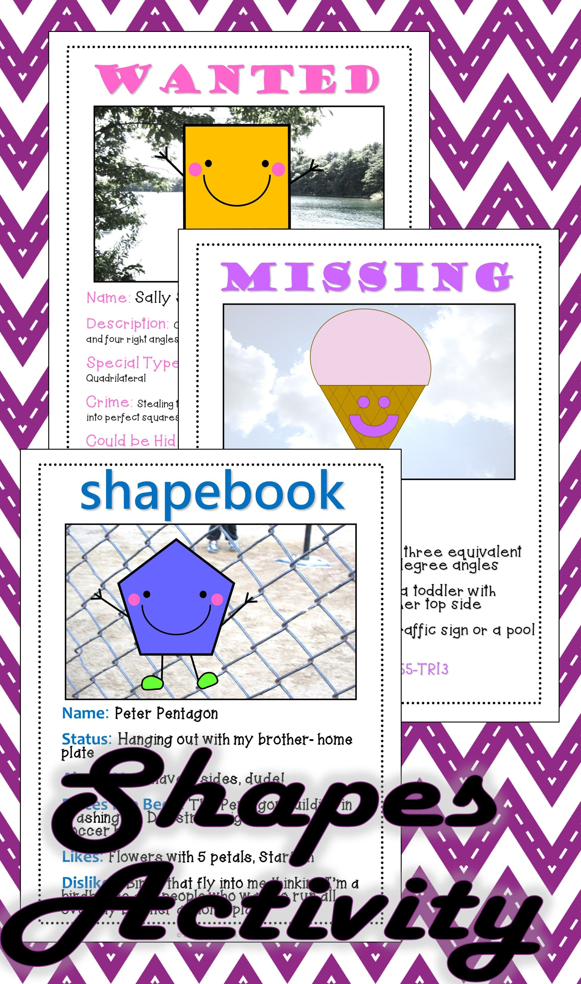 Shapes Triangles Amp Quadrilaterals Math Activities Bundle
