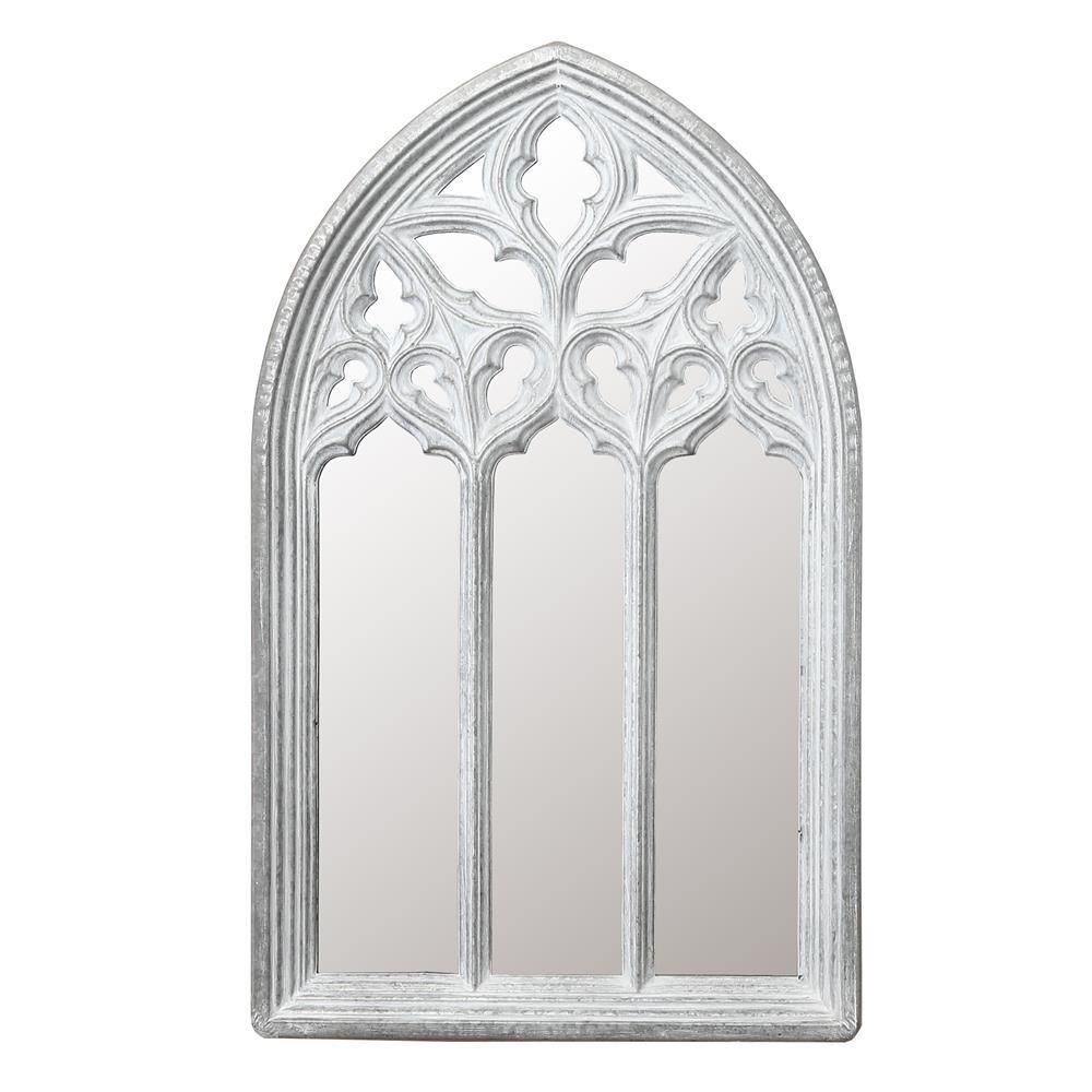 Luxen Home White Arched Window Wall Mirror Wha809 Arched Window Mirror Arched Windows Mirror Wall