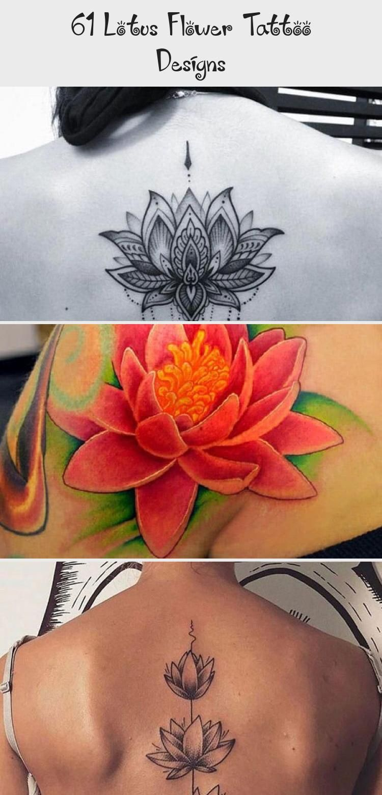 Cute Small Ankle Lotus Flower Tattoo  – Cute, Colored, Black and White, Large and Small Lotus Tattoos. Ankle, Wrist, Back, Forearm Tattoos. #tattoos #…