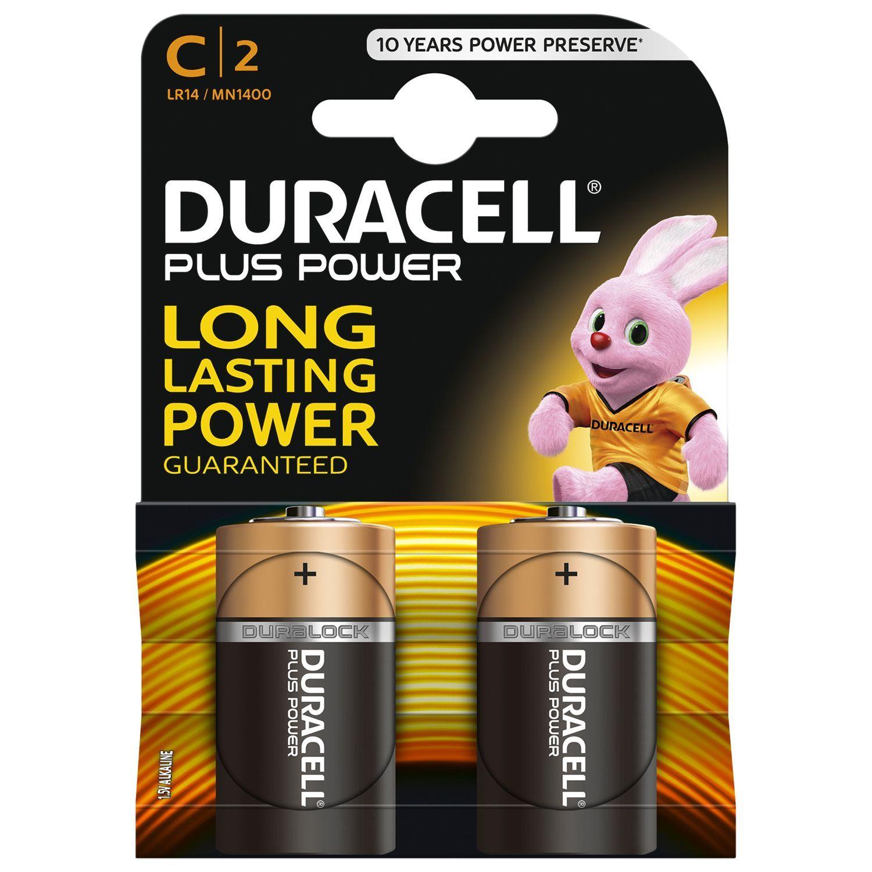 2 Pack of 2 Duracell Alkaline C Batteries