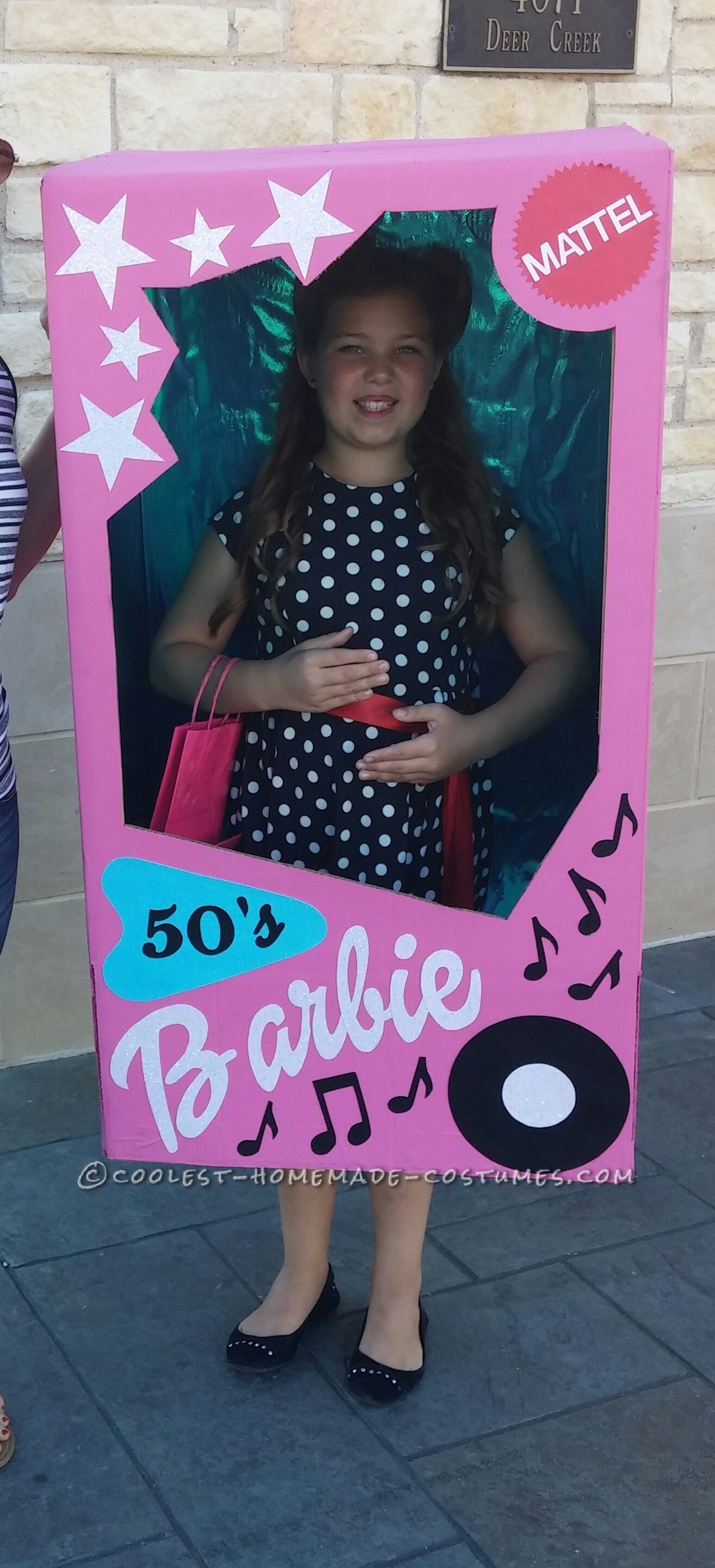 Cool 50's Barbie in a Box Costume | Halloween costume contest ...