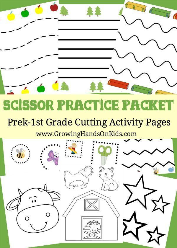 Scissor Practice Packet Prek-1st Grade Cutting Activity Pages ...