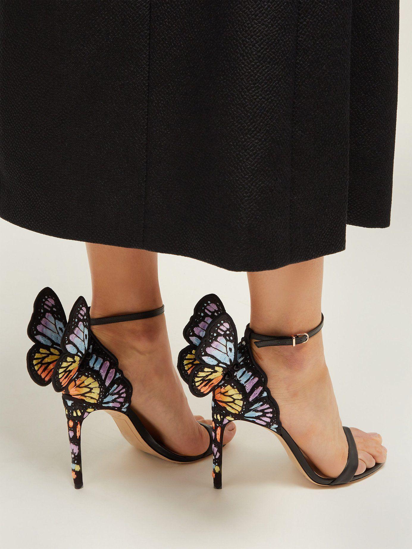 5b3c752b8f06 Chiara butterfly-wing leather stiletto sandals
