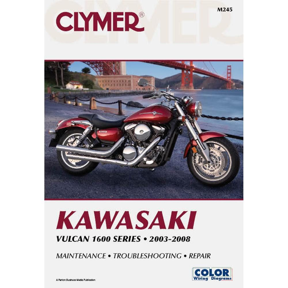 kawasaki vulcan 1600 series 2003 2008 includes color wiring diagrams clymer motorcycle repair manuals are written specifically for the do it yourself  [ 1000 x 1000 Pixel ]