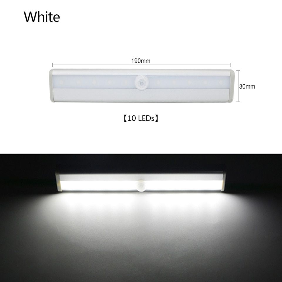 Led Pir Led Motion Sensor Light Wardrobe Cupboard Bed Lamp Led