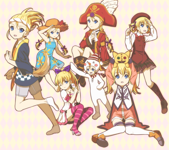 The many costumes of the great pirate, Patty Fleur from Tales of Vesperia!