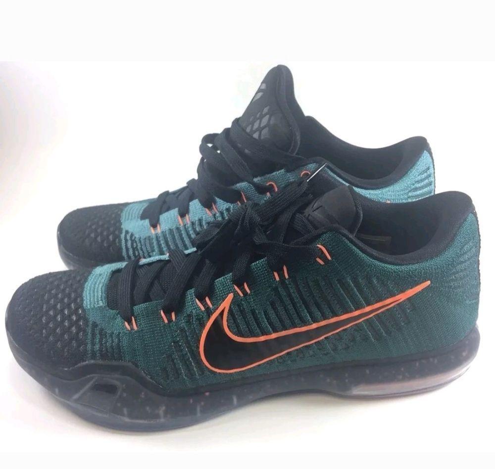 c741a79e2acb Nike Kobe 10 Elite Low Overcome Drill Sergeant Atomic Teal Size 11.5  747212-303