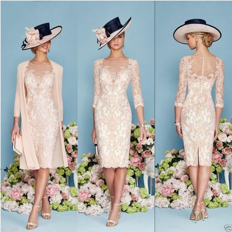 Lace Mother Of The Bride Outfit Chiffon Jacket Mother Groom Dress ...