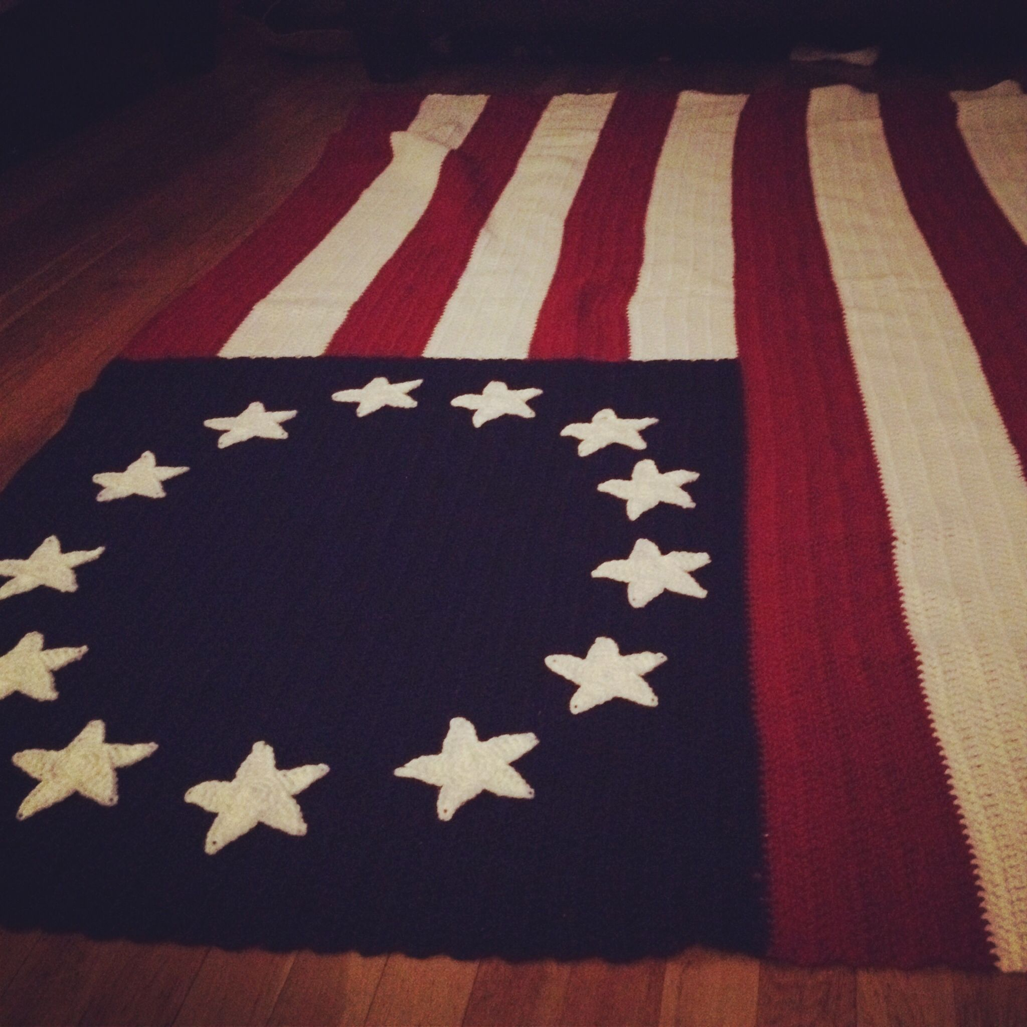Another View Of The Betsy Ross American Flag Crochet