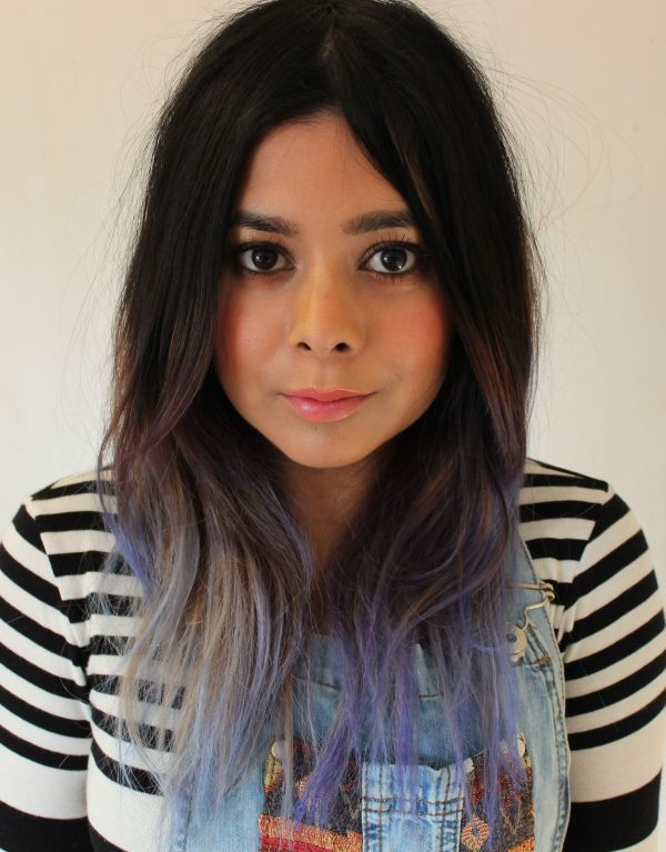 silver lilac ombre hair ombre gray let silver lilac