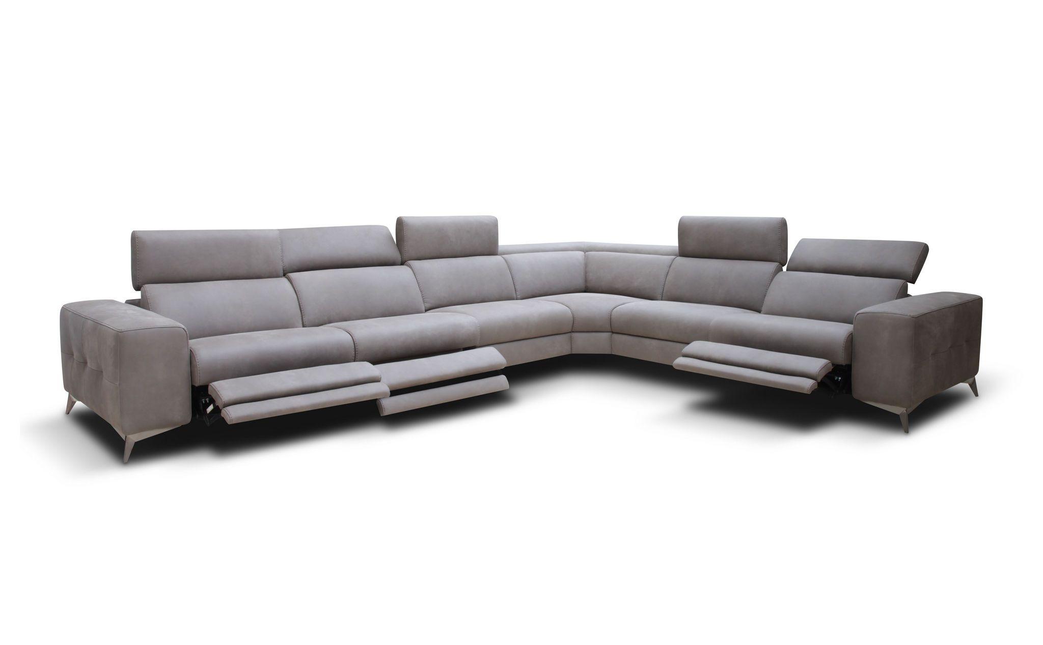 Tessa Sectional Braccisofas Com Sectional Sofa With Recliner