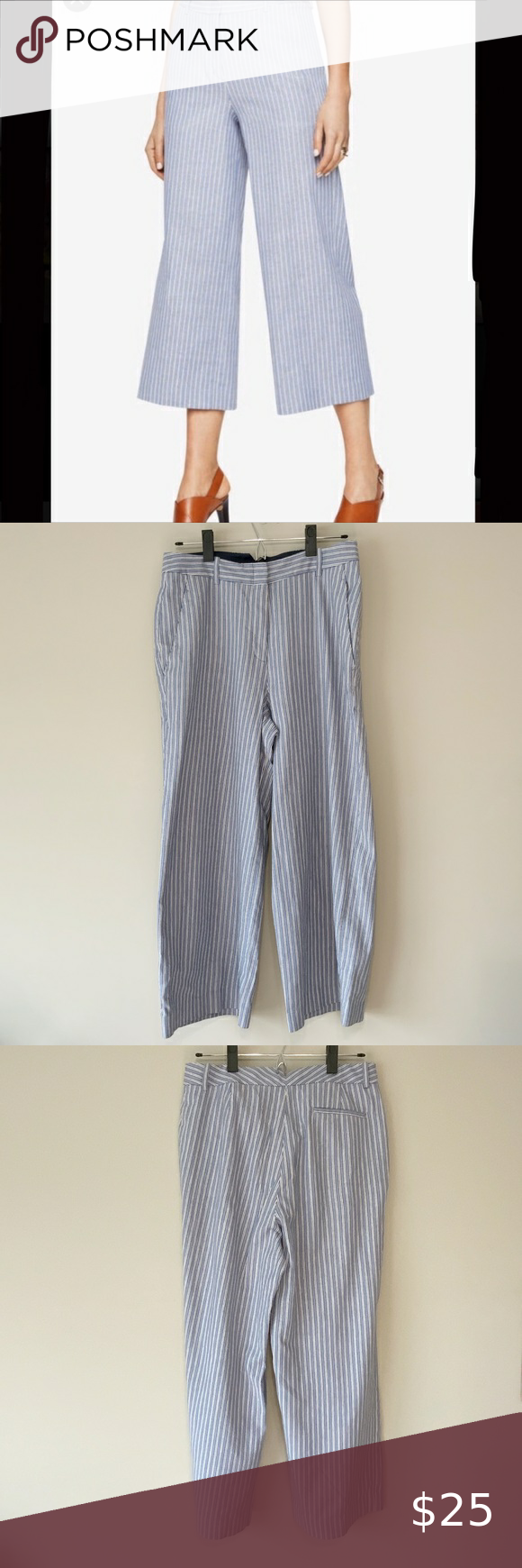 Photo of BCBG MaxAzria Sutton Striped Wide Leg Pant BCBG MaxAzria Sutton Striped Wide Leg…