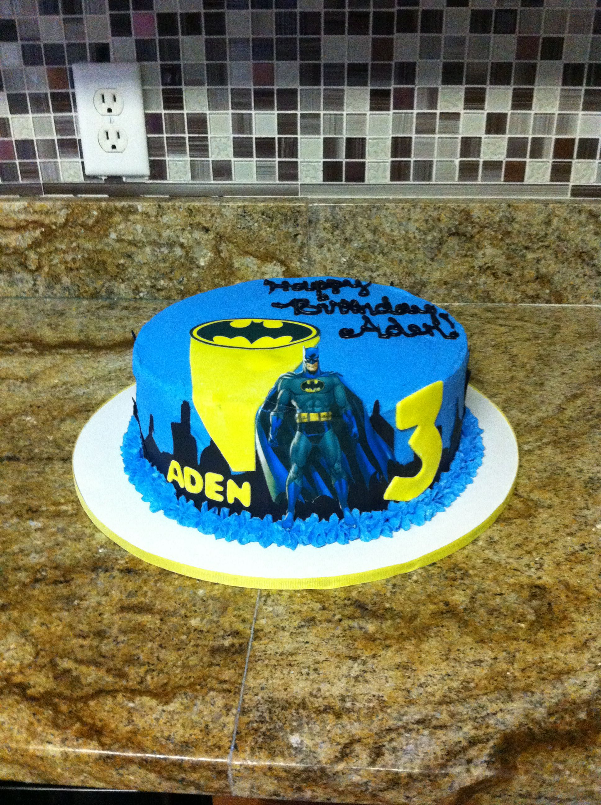 Batman Cake 10 Inch Cake With Edible Icing Sheet Gotham