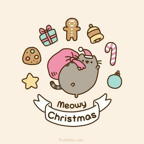 Pusheen The Cat Is Getting Ready For Christmas