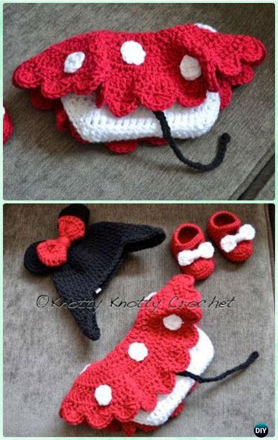 Crochet Minnie Mouse Hat Skirt Set Free Pattern Crochet Girls