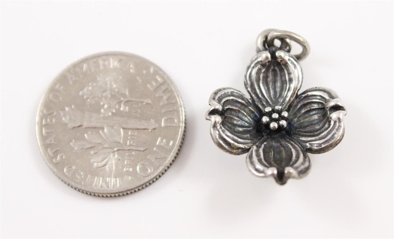 James Avery Sterling Silver Dogwood Charm