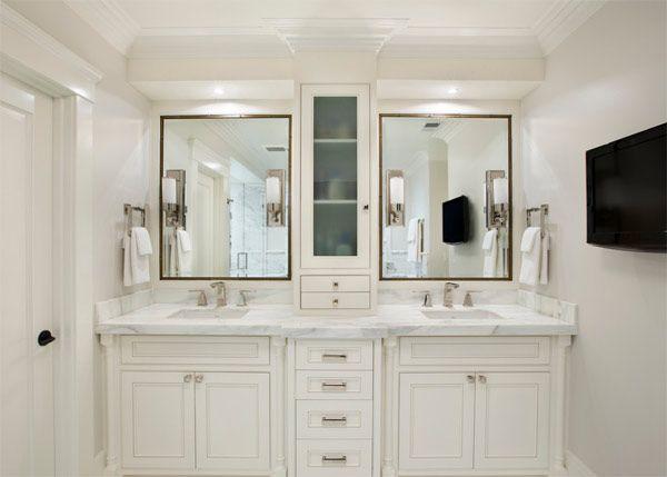 20 Classy And Functional Double Bathroom Vanities Home Design Lover Master Bathroom Vanity White Master Bathroom Master Bathroom Design Bathroom sinks and vanities