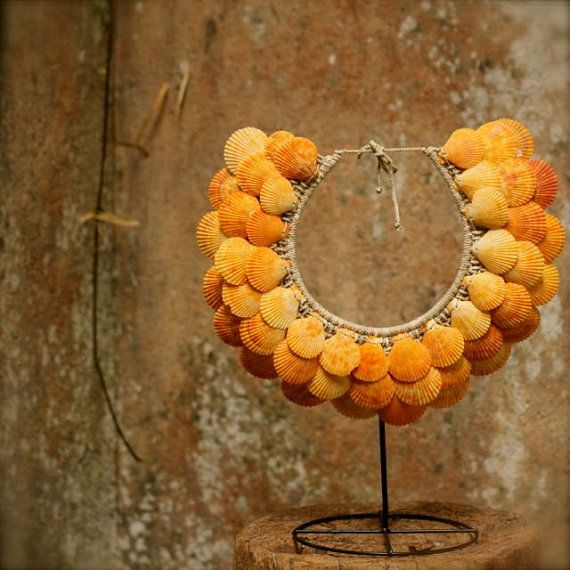 Statement necklacewall art home decor fibre by ARCHIPELAGOantiques