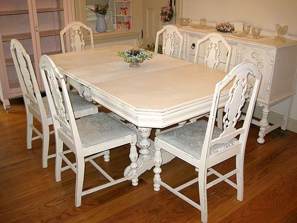 Antique White Dining Room Httpwwwforeverpinkcottagechicimagestable_10 I