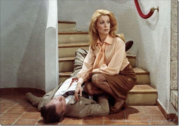 Catherine Deneuve in Yves Saint Laurent dress in Mississippi mermaid (1968) by François Truffaut