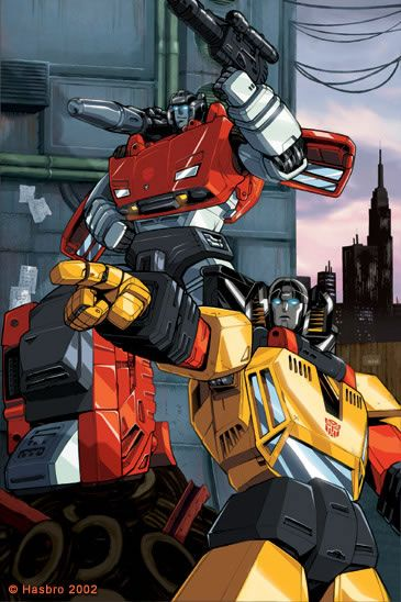 Sunstreaker & Sideswipe. Just two boys having fun! LOL :) Transformers