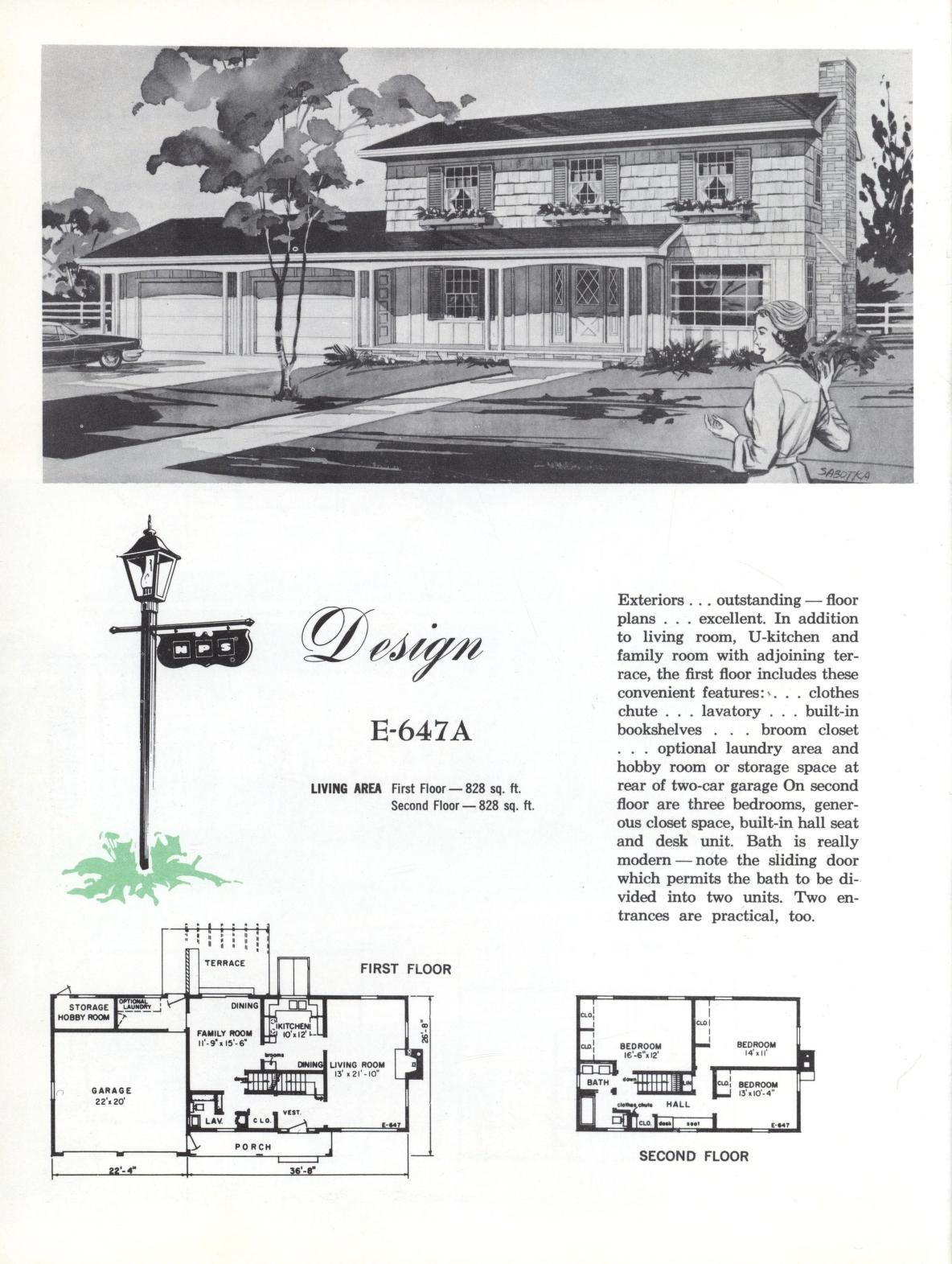 Colonial Homes 1963 Colonial House Vintage House Plans Floor Plans