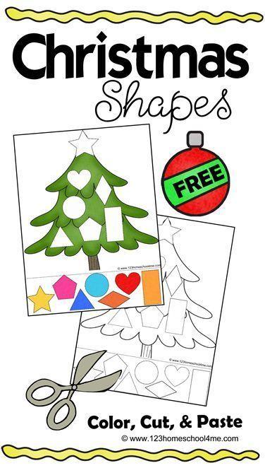 Free Christmas Shapes Printable Pinterest Shapes Worksheets
