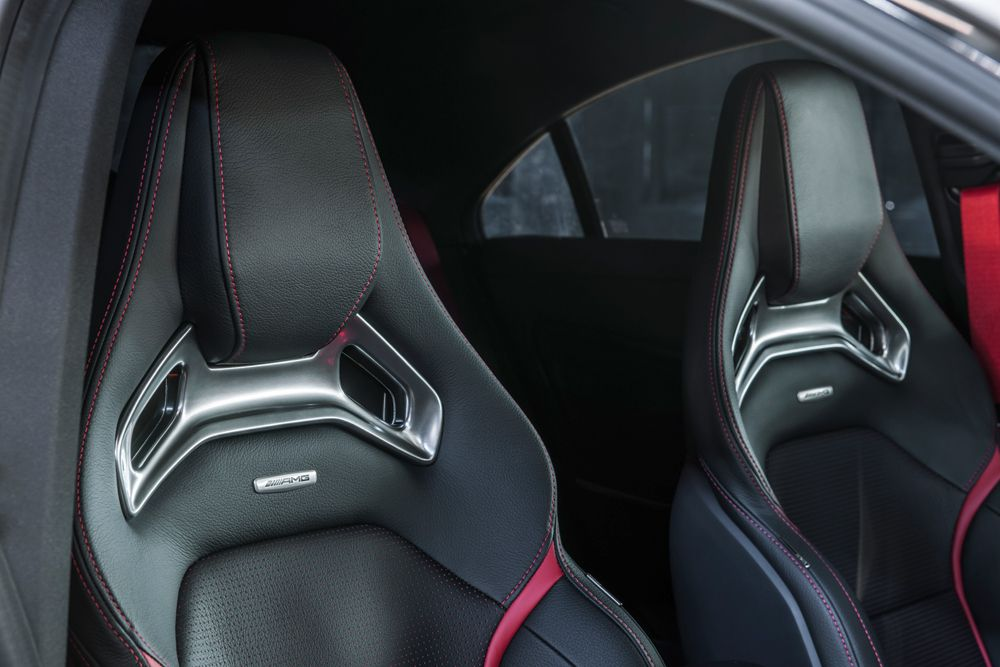 Sports Seats In ARTICO Man Made Leather/DINAMICA Microfibre With Red  Contrasting Topstitching,